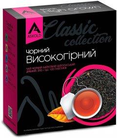 Чай черный байховый Askold Цейлонский высокогорный пакетированный 2 г х 100 шт (4820015831347)