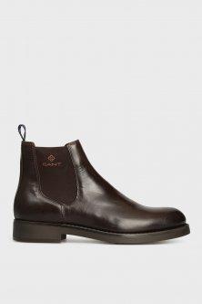 Чоловічі темно-коричневі шкіряні челсі Gant 45 17651904
