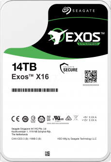 "Жесткий диск Seagate Exos X16 HDD 14TB 7200rpm 256MB ST14000NM002G 3.5"" SAS"