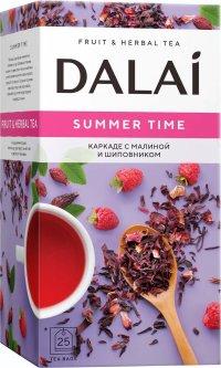 Чайный напиток пакетированный Dalai Каркаде с шиповником Summertime 25 пакетиков х 2 г (4820198873325)