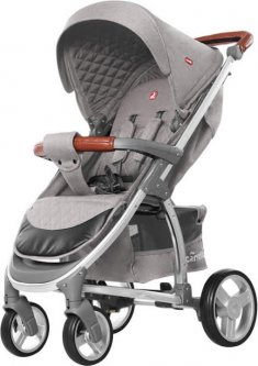 Прогулочная коляска Carrello Vista CRL-8505 Shark Grey Лен (153638)