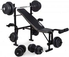 Скамья для жима RN-Sport 162 кг 4 грифа + 115 кг дисков (MC162)
