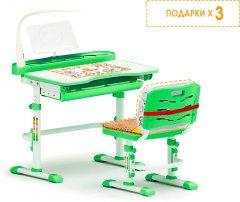 Комплект мебели Evo-kids Evo-18 (стул+стол+полка+лампа) Белый-зеленый (Evo-18 Z)