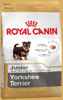 Royal Canin Yorkshire Junior для щенков породы йоркширский терьер в возрасте до 10 месяцев, 1,5 кг