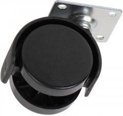 Ролик пластиковый с площадкой Ferro Fiori R 10070 40 мм нагрузка 22 кг Черный (VR46052)