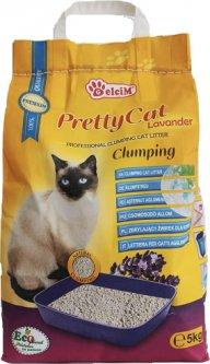 Наполнитель для кошачьего туалета Pretty Cat Lavander с ароматом лаванды Бентонитовый комкующий 5 кг (5948311200021)