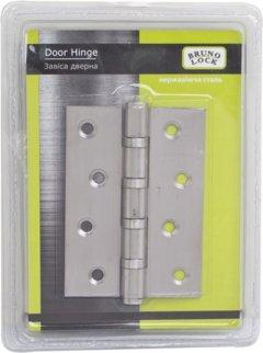 Петля дверная Bruno 100х32х2.2 мм универсальная Сталь нержавеющая 2 шт (TD36250)