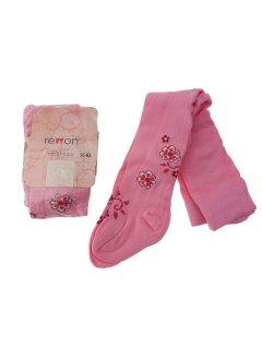Колготки Rewon с растительным принтом 56-62 см Розовые