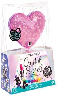 """Набор для создания шарм-браслетов Make it Real """"Кристальный секрет"""" с тремя кристаллами (MR1712) (695929017125)"""