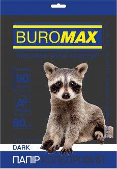 Бумага офисная Buromax А4 80 г/м2 Dark 50 листов Черная (BM.2721450-01)
