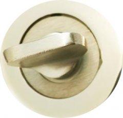 Дверная защелка Burgas WC круглая Никелевая (40632247)
