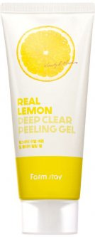 Глубоко очищающий пилинг-гель для лица FarmStay Real Lemon Deep Clear Peeling Gel 100 мл (8809426959358)