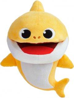 Интерактивная мягкая игрушка на руку Baby Shark с изменением темпа воспроизведения малыш Акуленок (61181)