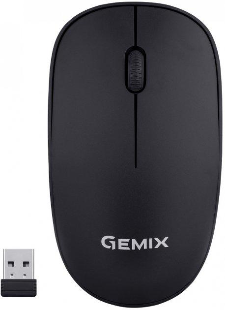 Миша Gemix GM195 Wireless Black - зображення 1