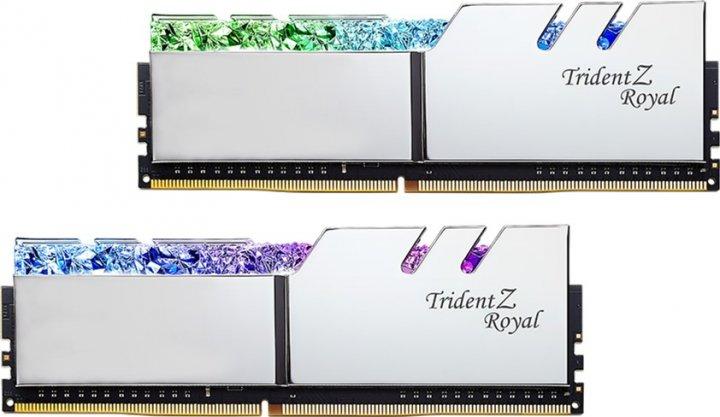 Оперативная память G.Skill DDR4-3600 16384MB PC4-28800 (Kit of 2x8192) Trident Z Royal Silver (F4-3600C18D-16GTRS) - изображение 1