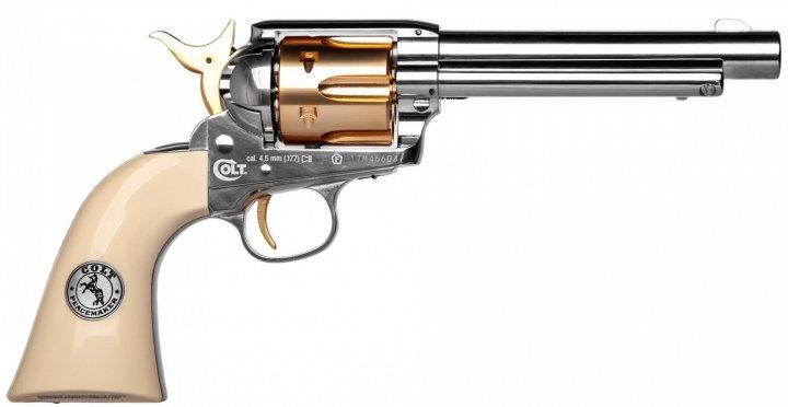 Пистолет пневматический Umarex Colt Single Action Army 45 (пульки) Gold - зображення 1