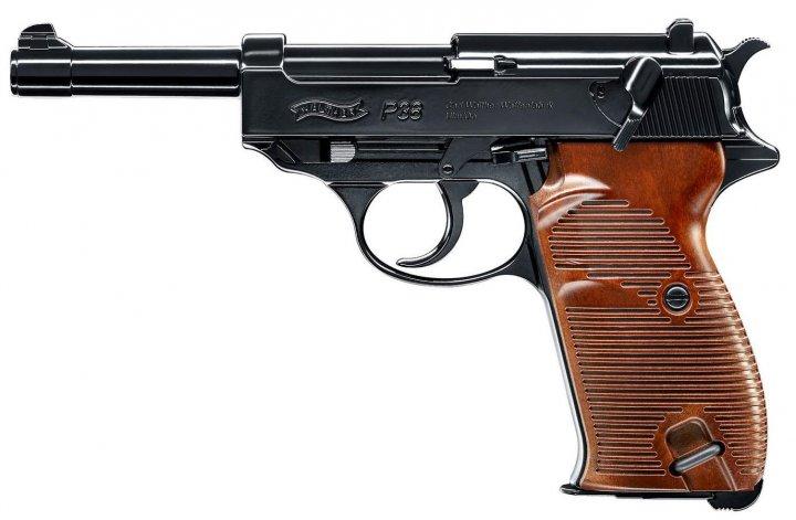 Пневматический пистолет Umarex Walther P38 черно-коричневый (5.8089) - зображення 1
