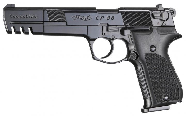 Пистолет пневматический Umarex Walther CP88 Competition черный (416.00.05) - зображення 1