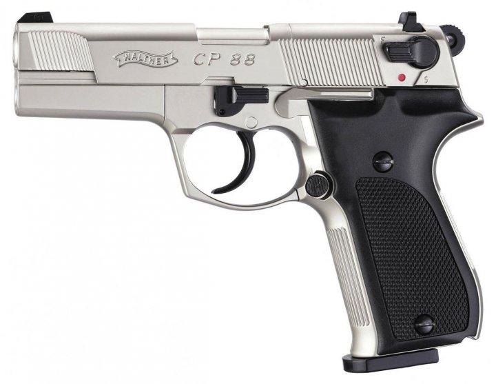 Пистолет пневматический Umarex Walther CP88 никель (416.00.03) - зображення 1