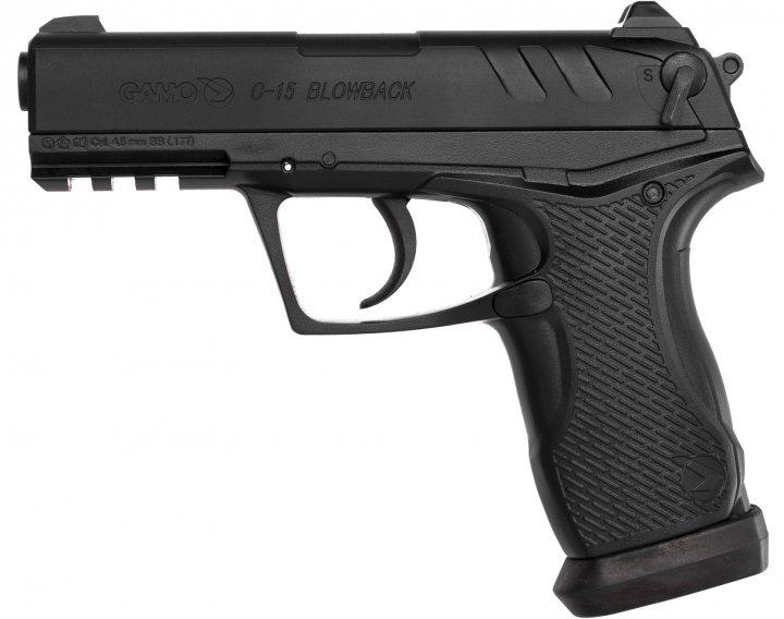 Пневматичний пістолет Gamo C-15 Blowback BB'S (6111390-P) - зображення 1
