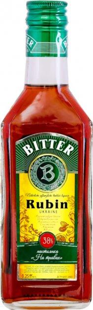 Настойка На травах Rubin Bitter 0.25 л 38% (4820136352547) - изображение 1
