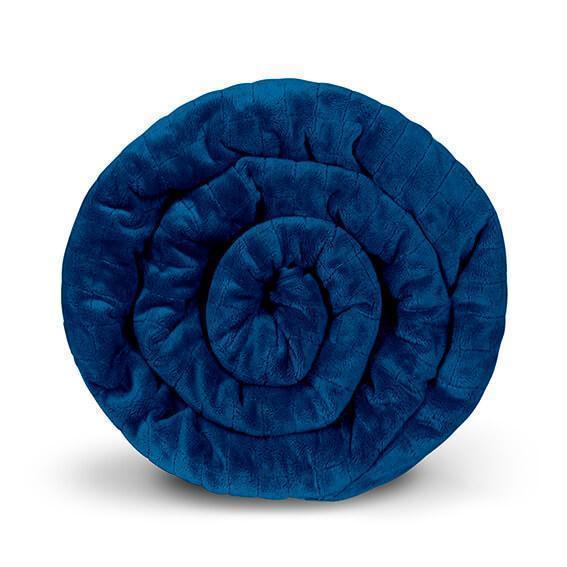 Утяжеленное (тяжелое) сенсорное одеяло GRAVITY 135x200см 8кг Темно-синее - изображение 1