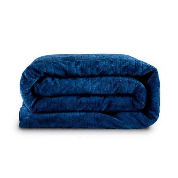 Утяжеленное (тяжелое) детское сенсорное одеяло Gravity 110x170см 4кг Темно-синее - изображение 1