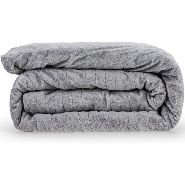 Утяжеленное (тяжелое) детское сенсорное одеяло Gravity 100x150см 4кг Серое - изображение 1