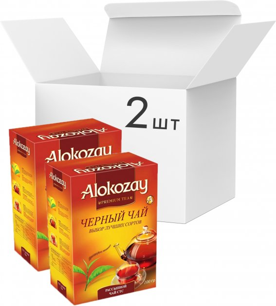 Упаковка черного гранулированного чая Alokozay Tea СТС 100 г х 2 шт (4820229040818) - изображение 1