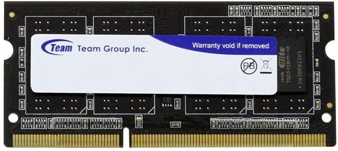 Оперативная память Team SODIMM DDR3-1333 4096MB PC3-10600 Elite (TED34G1333C9-S01) - изображение 1