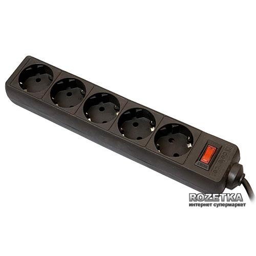 Мережевий фільтр Defender ES 99486 (5 метрів (чорний)) - зображення 1