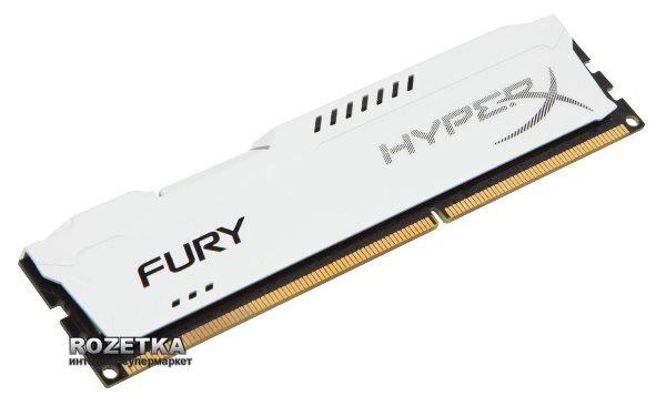 Оперативная память HyperX DDR3-1600 8192MB PC3-12800 FURY White (HX316C10FW/8) - изображение 1