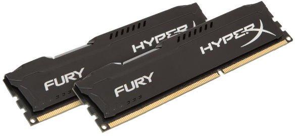 Оперативна пам'ять HyperX DDR3-1866 16384MB PC3-14900 (Kit of 2x8192) FURY Black (HX318C10FBK2/16) - зображення 1