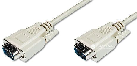Кабель Digitus VGA (HDDB15M/M) 5 м White (AK-310100-050-E) - изображение 1