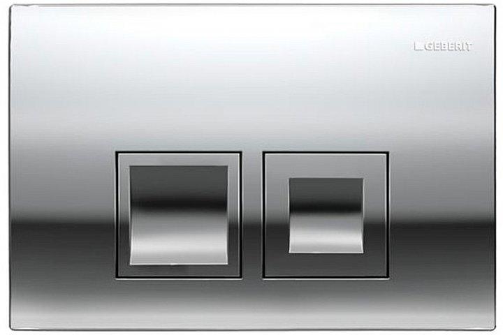 Панель смыва GEBERIT Delta 50 хром глянцевый 115.135.21.1 - изображение 1