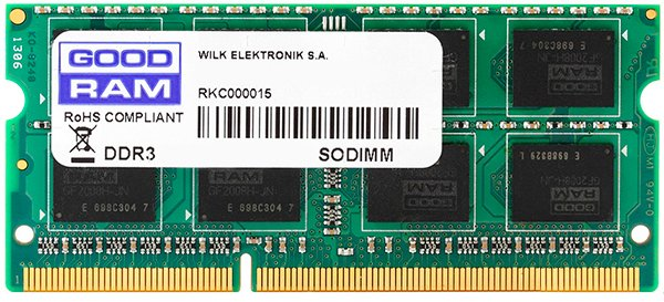 Оперативна пам'ять Goodram SODIMM DDR3-1600 8192MB PC3-12800 (GR1600S3V64L11/8G) - зображення 1