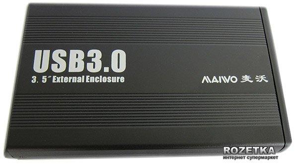 """Зовнішня кишеня Maiwo для HDD 3.5"""" SATA USB 3.0 Black (K3502-U3S) - зображення 1"""