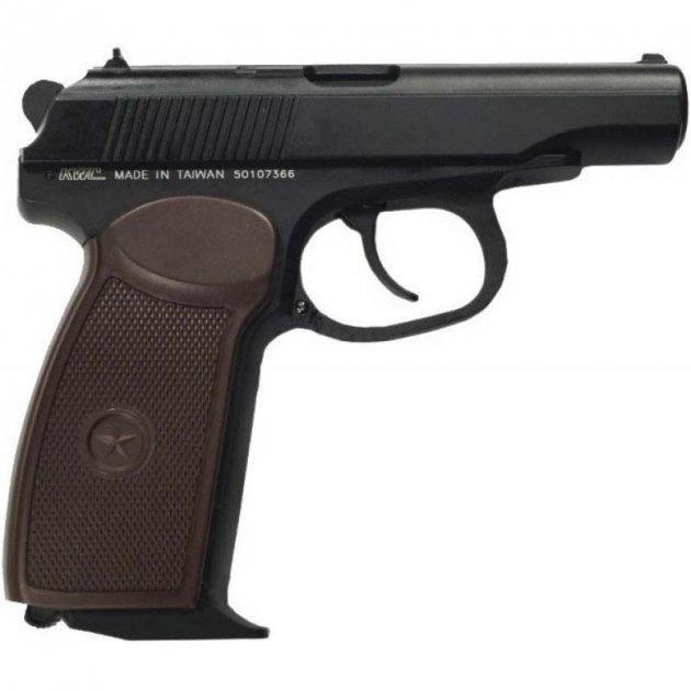 Пистолет пневматический KWC Makarov Blowback черный - изображение 1