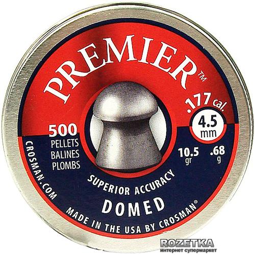 Свинцеві кулі Crosman Premier Domed 0.68 м 500 шт (LHP77A002) - зображення 1