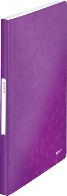 Папка пластиковая Leitz WOW А4 40 файлов Фиолетовая (46320062)