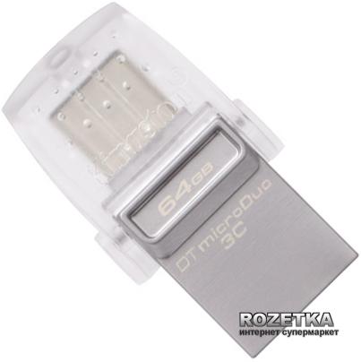 Kingston DataTraveler microDuo 3C 64GB (DTDUO3C/64GB) - зображення 1