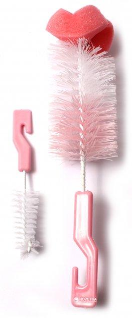 Ёршик для чистки бутылок и сосок Lindo РК 014-А с поролоном Розовый (8850216100146) - изображение 1