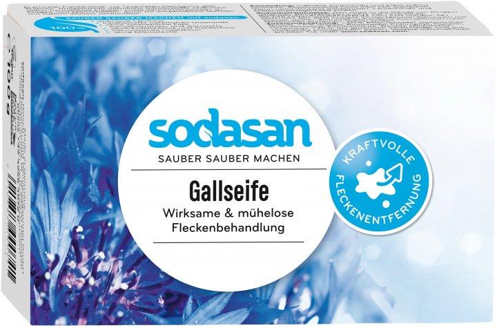 Органическое мыло для удаления пятен в холодной воде Sodasan Spot Remover 100 г (4019886000741) - изображение 1