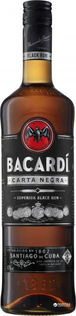 Ром Bacardi Carta Negra 4 года выдержки 1 л 40% (5010677035811) - изображение 1