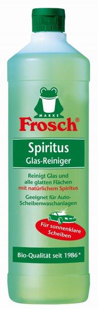 Очиститель для стеклянных и зеркальных поверхностей Frosch спиртовой 1 л (4001499013683) - изображение 1
