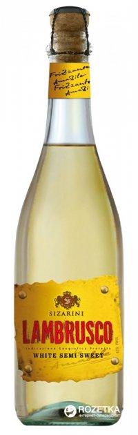 Вино игристое Sizarini Lambrusco белое полусладкое 0.75 л 8% (8004810675481) - изображение 1