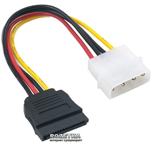 Кабель ExtraDigital Serial ATA Power Cable, 18 AWG, 0.16 м (KBP1660) - изображение 1