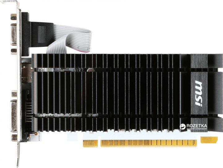 MSI PCI-Ex GeForce GT 730 2048MB DDR3 (64bit) (902/1600) (VGA, DVI, HDMI) (N730K-2GD3H/LP) - изображение 1