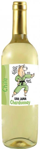 Вино Uva Lama Chardonnay белое сухое 0.75 л 13% (4820135490097) - изображение 1
