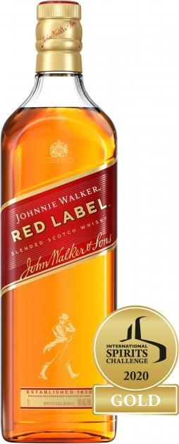 Виски Johnnie Walker Red Label выдержка 4 года 1 л 40% (5000267013602) - изображение 1